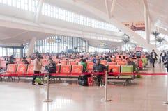 Gare ferroviaire de Wuhan Photos stock