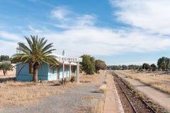 Gare ferroviaire inutilisée dans Keimoes images libres de droits
