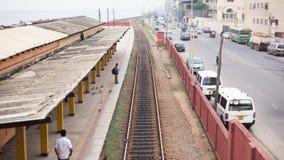 Gare ferroviaire majestueuse de ville, ville de Colombo, Sri Lanka image libre de droits