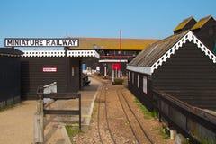 Gare ferroviaire miniature Photo libre de droits