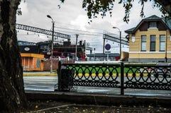Gare ferroviaire Orsk Images libres de droits