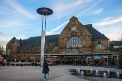 Gare ferroviaire principale à Aix-la-Chapelle Image libre de droits