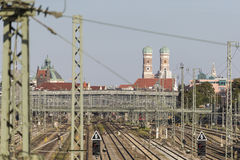 Gare ferroviaire principale Allemagne de Munich Photo libre de droits