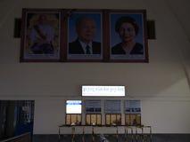 Gare ferroviaire royale tôt le matin dans Phnom Penh, Cambodge Images libres de droits