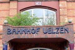 Gare ferroviaire Uelzen de Hundertwasser Photographie stock