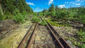Gare ferroviaire vide et abandonnée Images libres de droits