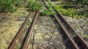 Gare ferroviaire vide et abandonnée Photographie stock