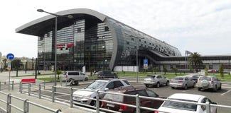 Gare ferroviaire, ville d'Adler, Russie Photos libres de droits