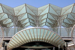 Gare gör Oriente - den Lissabon Orient stationen Royaltyfri Foto