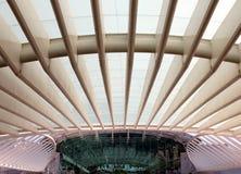 Gare gör Oriente - den Lissabon Orient stationen Arkivfoto