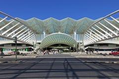 Gare gör Oriente - parkera av nationer - Lissabon Arkivfoton