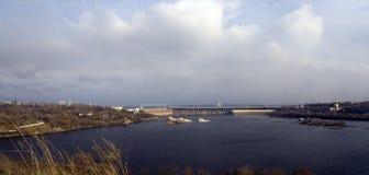 Gare hydro-électrique de Dnieper images stock