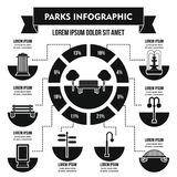 Gare le concept infographic, style simple Photos libres de droits