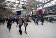 Gare Londres de Waterloo Photo stock