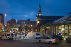 Gare, Luxembourg. Gare Quartier, Luxembourg night scene stock photography