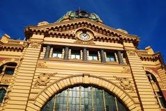 Gare Melbourne de rue de Flinders Images libres de droits