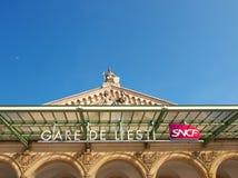 Gare Paris-Est Railway Station Paris Stock Photo