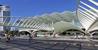 Gare robi Oriente aka Ukierunkowywa stację, transportu publicznego centrum Zdjęcie Stock