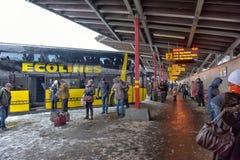 Gare routière centrale de Riga Photographie stock
