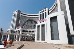 Gare routière centrale Thiruvananthapuram Photographie stock libre de droits