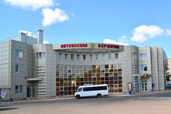 Gare routière dans la ville de Berdichev, Ukraine Photographie stock