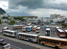 Gare routière de Port-Louis de Gare du Nord Image libre de droits