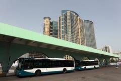 Gare routière en Abu Dhabi photographie stock