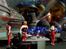 Gare spatiale futuriste Photo libre de droits