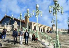 Gare St Charles i Marseille, Frankrike Arkivfoto