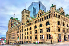 Gare Windsor, a heritage train station in Montreal, Canada. Gare Windsor, a heritage train station in Montreal - Quebec, Canada Stock Photos