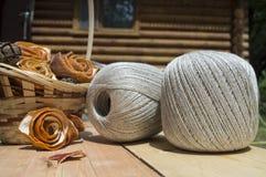 Garen voor het breien in ballen Stock Foto's