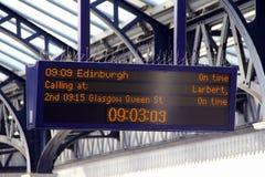 Gares ferroviaires britanniques Photos libres de droits
