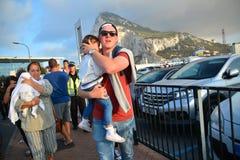 Gareth Bale em Gibraltar Imagens de Stock Royalty Free