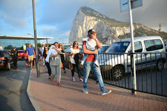 Gareth Bale in Gibraltar Stock Images
