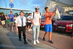 Gareth Bale i Gibraltar Royaltyfri Fotografi