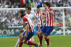 Gareth Bale , Luis Felipe and tiago Final Champion League 2014 Royalty Free Stock Photos