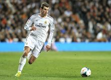 Gareth Bale of Real Madrid runs with the ball in counter attack Royalty Free Stock Photos