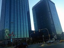 Garettepe Sisli Istanbuł miasta biznesu budynki fotografia royalty free