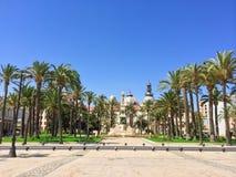 Garez au centre de Carthagène en Espagne Image libre de droits