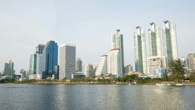 Garez, extérieur, thailandconstruconstruction, laps de temps, businessction, laps de temps, ville banque de vidéos