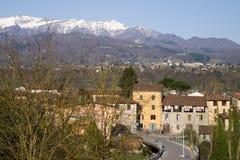Garfagnana, Itália, visto de Ponte di Campi Imagem de Stock Royalty Free