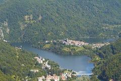 garfagnana湖lucca vagli 库存照片