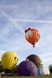 Garfield colorido y otros balones de aire Fotos de archivo libres de regalías