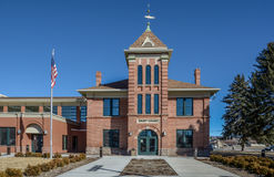 Garfield County Courthouse in Panguich Utah Stock Foto's