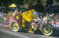 Garfield Float in Rose Bowl Parade, Pasadena, Kalifornien stockfotos