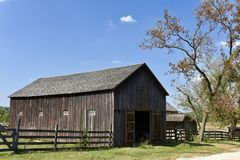 Garfield Tavern & Inn Horse Barn. This is a Fall picture of the a horse Barn at the Garfield Farm Museum located in Campton Hill, Illinois in Kane County. This royalty free stock photo