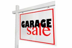 Gargae Sale Home Sign Advertising Royalty Free Stock Images