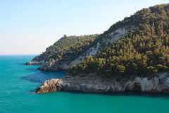Gargano coast, Apulia, Italy stock images