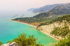 Gargano coast: Mattinatella or Fontana delle Rose beach.MATTINATA (Apulia), - ITALY- Royalty Free Stock Photo