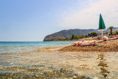 Gargano coast: Piana di Mattinata  beach.Apulia,Italy. Royalty Free Stock Images